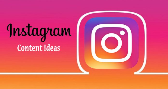 Instagram content ideas