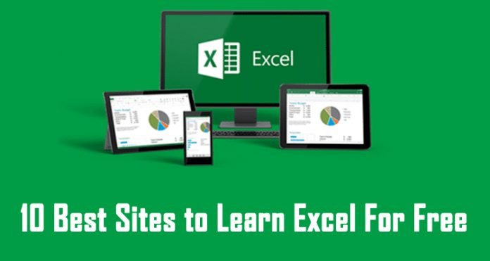 best sites for excel learning